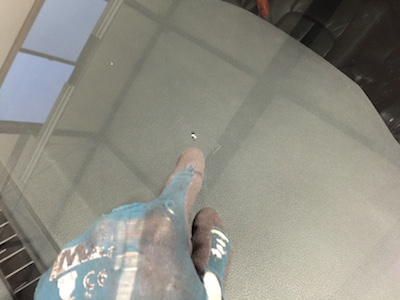 ヴェルファイア ANH20 フロントガラス 修理