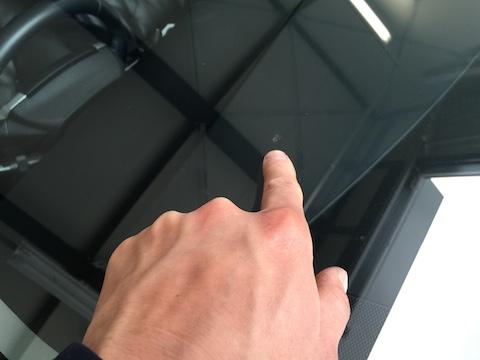 プリウス フロントガラス 修理 飛び石