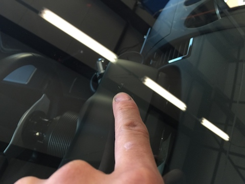 フェアレディZ フロントガラス 飛び石 修理