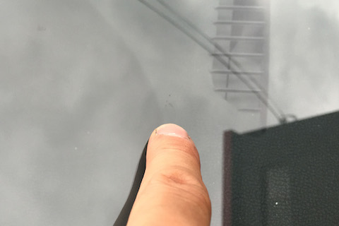 フロントガラス 飛び石 修理 ノート