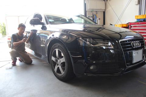 Audi A4 ヘコミ 修理 デントリペア