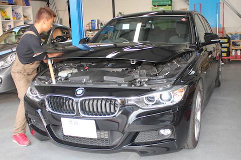 BMW Mスポーツ へこみ 修理 デントリペア
