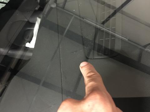 アウディ A5 フロントガラス 飛び石 修理