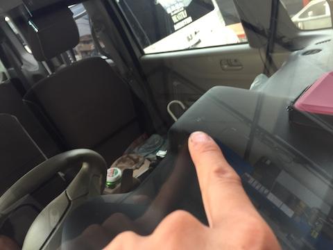 N-BOX フロントガラス 飛び石 修理 交換 ウインドリペア