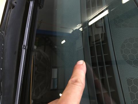 Audi S4 フロントガラス 飛び石 修理 ウインドリペア