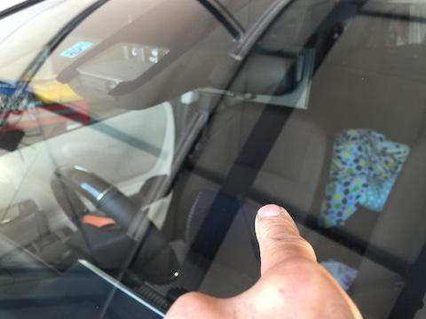 シエンタ フロントガラス 飛び石 修理 ウインドリペア