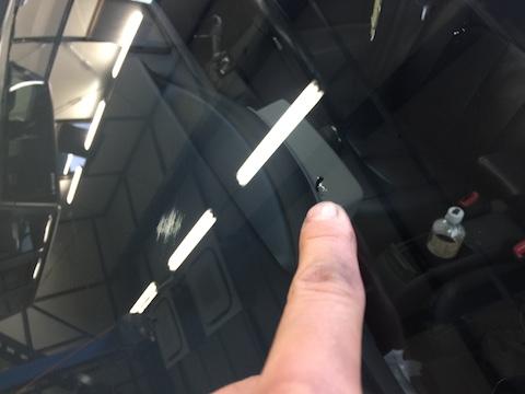 シエンタ フロントガラス 飛び石 修理