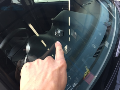 N-BOX フロントガラス 飛び石 修理 ウインドリペア