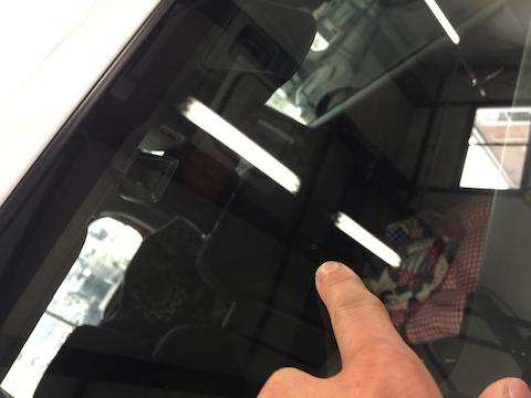 ハスラー 飛び石 修理 フロントガラス ウインドリペア