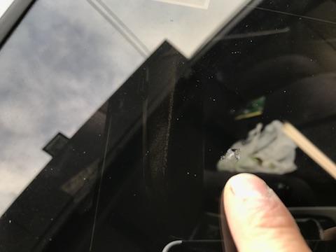RX-7 フロントガラス 飛び石 修理 ウインドリペア