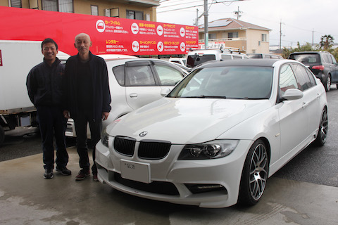 BMW 3 ヘコミ 修理 デントリペア