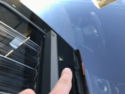フォレスター フロントガラス 飛び石 修理