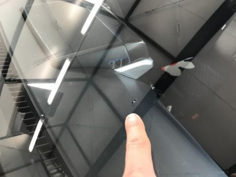 ランドクルーザー フロントガラス 飛び石 修理 ウインドリペア