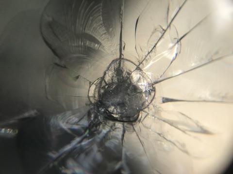ニッサン ノート フロントガラス 飛び石 修理 ウインドリペア