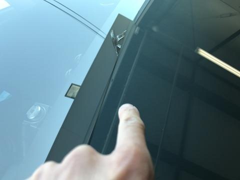 プリウス フロントガラス 飛び石 修理 ウインドリペア