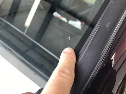 ヴォクシー フロントガラス 飛び石 修理 ウインドリペア
