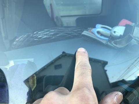 トラック フロントガラス 飛び石 修理 ウインドリペア