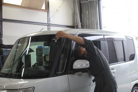 タント フロントガラス 飛び石 修理 ウインドリペア