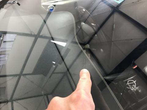 ハリアー フロントガラス 飛び石 修理 ウインドリペア