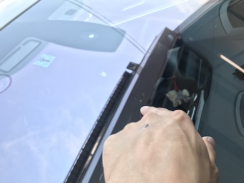BMW active hybrid 7 フロントガラス 飛び石 修理 ウインドリペア