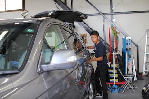 CR-V ヘコミ 修理 デントリペア クォーター