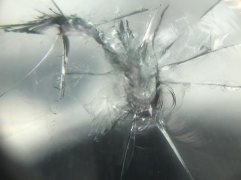 ハスラー フロントガラス 飛び石 修理 ウインドリペア