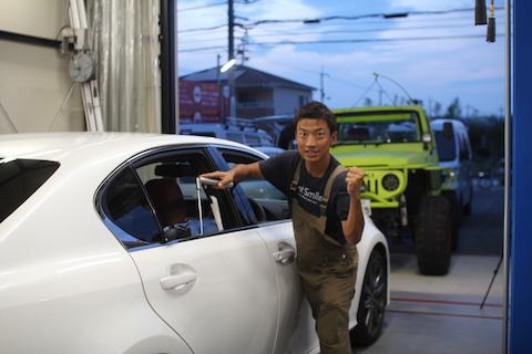 GS Fスポーツ ドア ヘコミ 修理 デントリペア