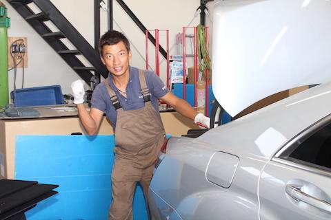 ベンツ Sクラス ヘコミ 修理 デントリペア リアクォーター