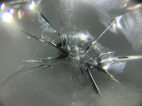 ヴェルファイア フロントガラス 飛び石 修理 ウインドリペア