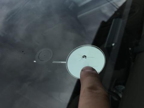 MPV フロントガラス 飛び石 修理 ウインドリペア