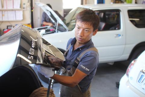 S63 ベンツ デントリペア ヘコミ 修理 トランク