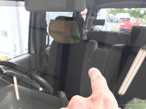 エブリィ フロントガラス 飛び石 修理 ウインドリペア