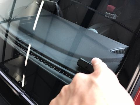 ベンツ GLC250 フロントガラス 飛び石 修理 ウインドリペア