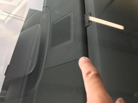 デリカ D5 フロントガラス 飛び石 修理 ウインドリペア
