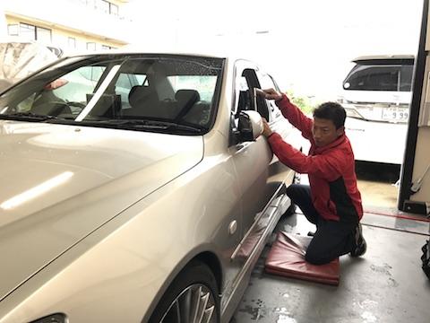 アルテッツァ ヘコミ 修理 デントリペア ドア