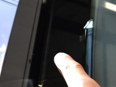 マークX フロントガラス 飛び石 修理 ウインドリペア