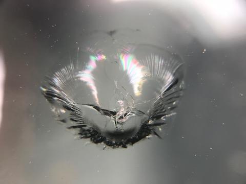 N BOX フロントガラス 飛び石 修理 ウインドリペア