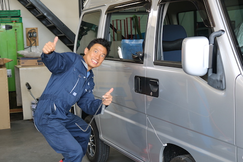 和歌山よりドアのヘコミ修理でデントリペアのご依頼!
