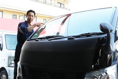 仕事用の車、フロントガラスの修理、即日最短施工します!