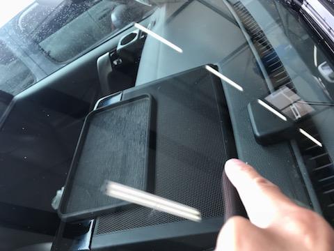 プラドのフロントガラスにヒビ!高額修理にならずリペア可能です!