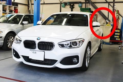 BMWのリアクォーター部の複雑なヘコミもデントリペア!