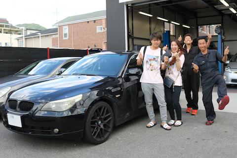 BMWフロントガラスの大きなヒビでも、交換せずに直ります!