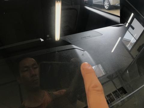 予約なくても即日施工でフロントガラスの飛び石ヒビを直します!