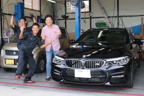 BMWアルミボンネットのヘコミもデントリペアで直ります!