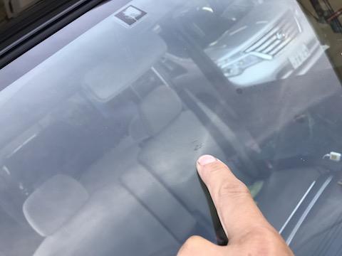 フロントガラス修理、DIYで直せなかった傷を直します!