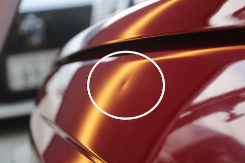 旧車のヘコミ修理、塗装したくないお客様に一番良い方法をご用意しております!