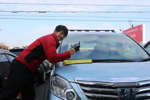 予約無くても車のフロントガラス修理、即日施工します!