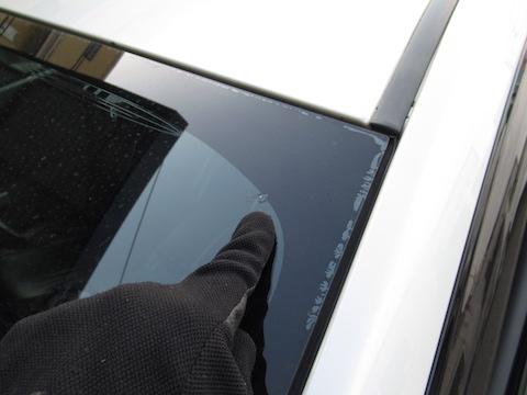 フロントガラス修理できない端っこの傷を直します!