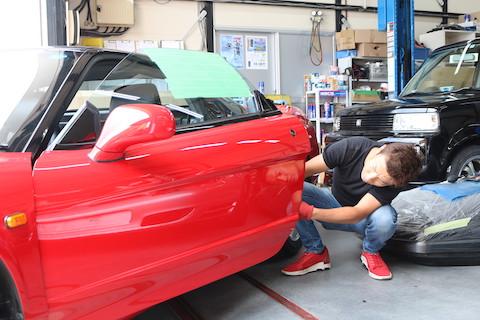 車のアルミボディのヘコミ修理も、塗装しないデントリペア!
