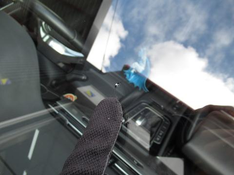 輸入車のフロントガラスのヒビ割れも直せます!